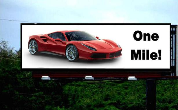 Red Car Billboard